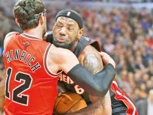 Los Bulls quebraron la cadena de James y el Heat