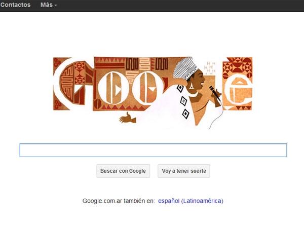 Google homenajea hoy a Miriam Makeba