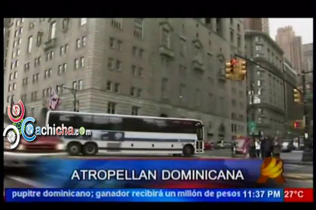 Autobus Atropellan Dominicana En Nueva York #NoticiaSIN #Video