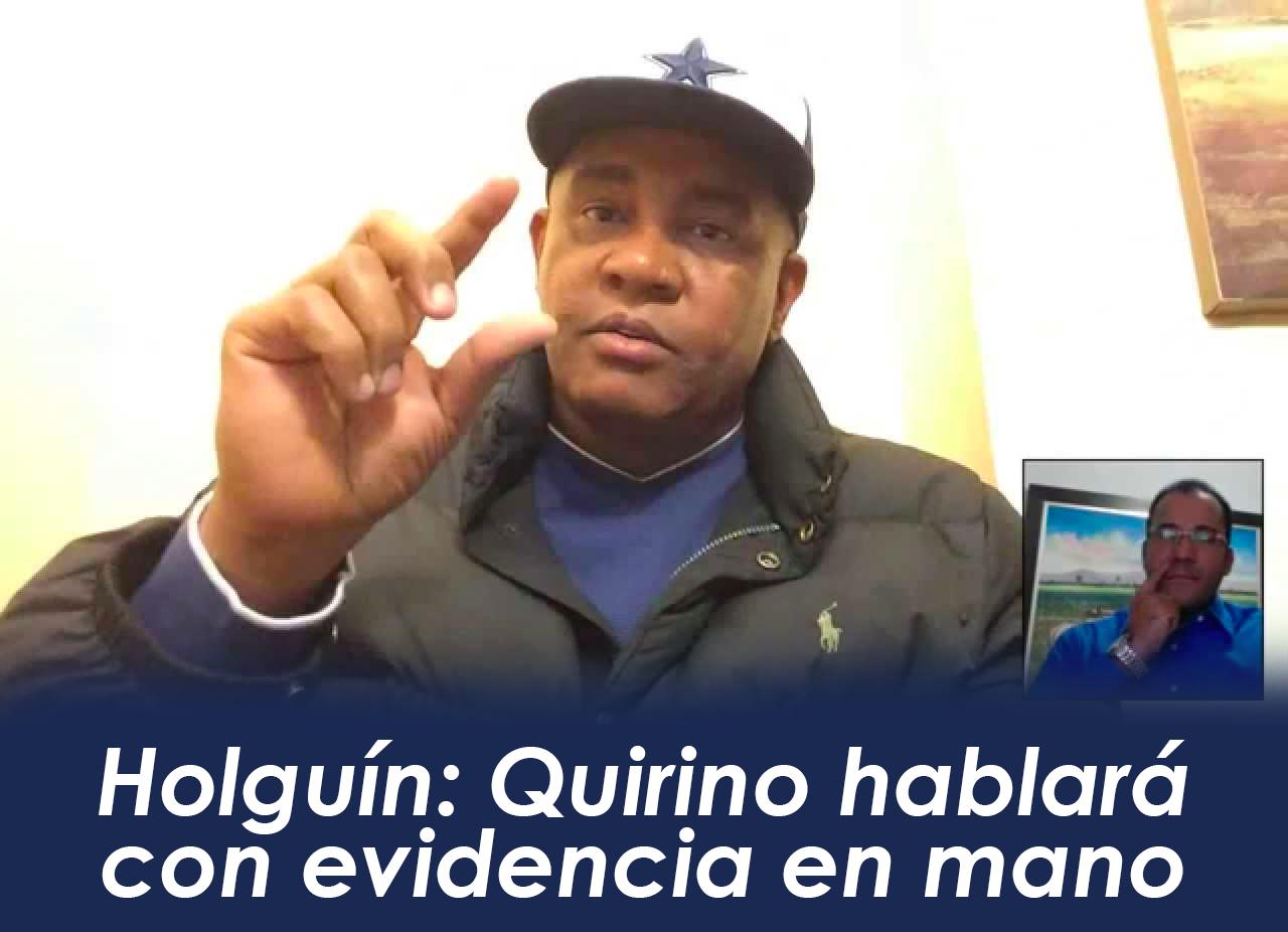 Quirino hablará con evidencia en mano