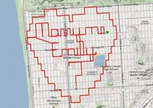 Un ciclista usa el GPS para pedirle matrimonio a su pareja