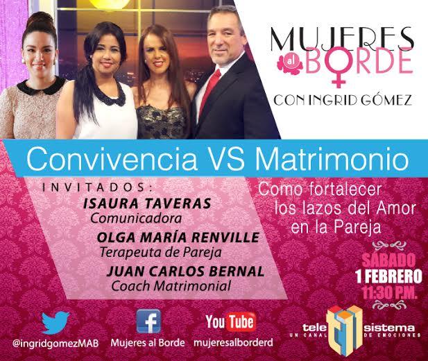 Matrimonio De Convivencia : Charla quot convivencia vs matrimonio en mujeres al borde