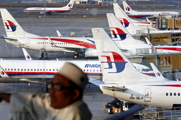 File photo of Malaysia Airlines planes on the tarmac at the Kuala Lumpur International Airport
