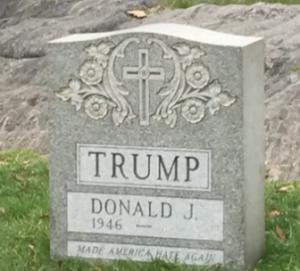 Misteriosa lápida de Donald Trump en Central Park