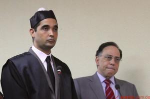 Celso Marranzini junto a uno de sus abogados.