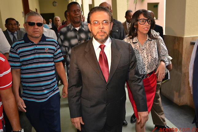 Guillermo Moreno fuera del Palacio de Justicia