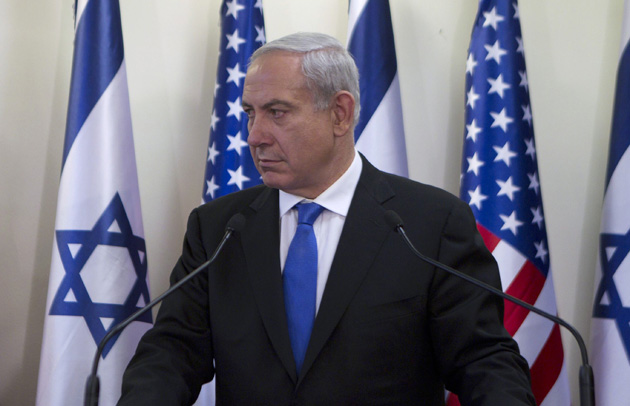 Israel's Prime Minister Benjamin Netanyahu delivers joint statements with U.S. Secretary of State Hillary Clinton in Jerusalem