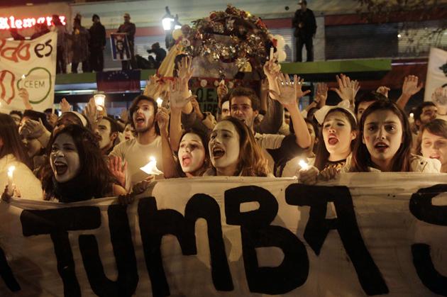 """MARCHA PARA PROTESTAR CONTRA REPRESI""""N POLICIAL EN MANIFESTACIONES ESTUDIANTILES"""