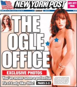 El 'New York Post' publica fotos de Melania Trump desnuda en una sesión de 1995