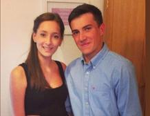 Daniel White y su ex novia, Courtney Davies