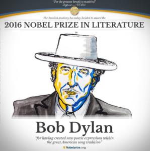 El cantautor estadounidense Bob Dylan gana el Premio Nobel de Literatura