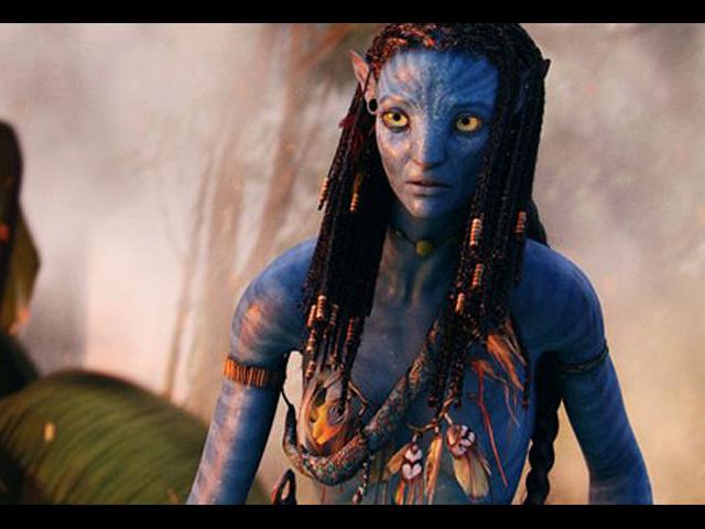Zoe interpreta a Neytiri, una nativa del planeta Pandora.