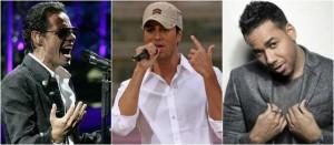 Marc Anthony, Enrique Iglesias y Romeo Santos