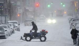 mucha nieve en USA