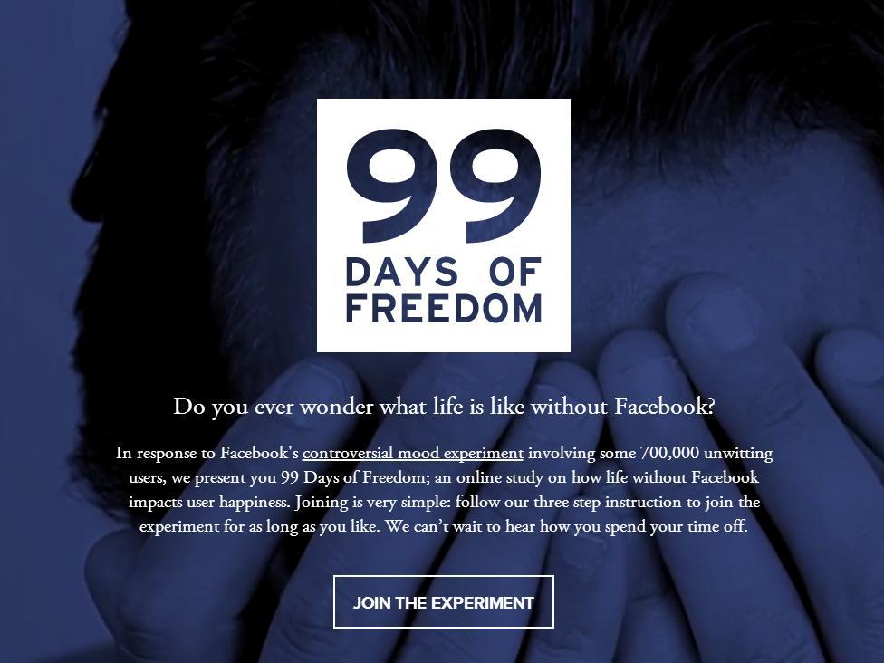 Campaña reta a dejar Facebook durante 99 días