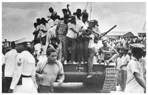 tanque con pueblo