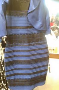 vestido azul o dorado
